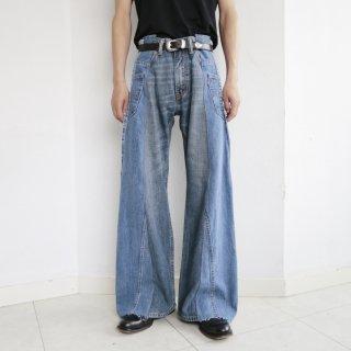 remake rebuilding flare jeans