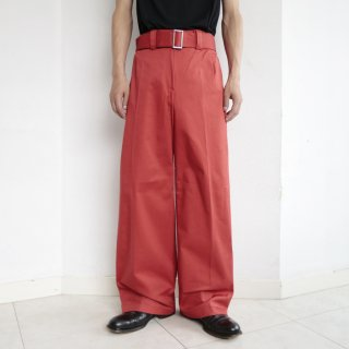 old belted cotton trousers