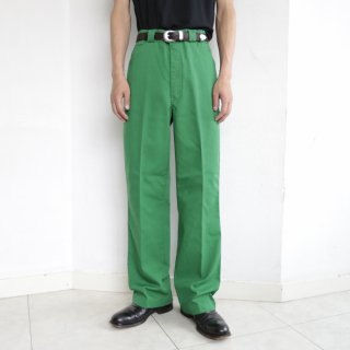 vintage cotton straight trousers