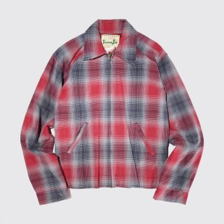 vintage ombre check drizzler jacket
