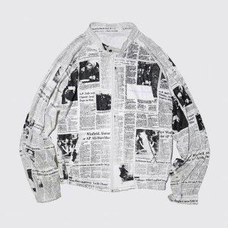 vintage newspaper jacket