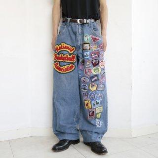 old nba emblem buggy jeans