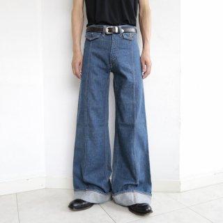 vintage roll up flare jeans