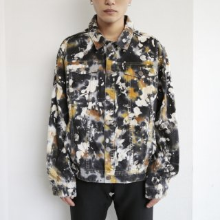 old painted trucker jacket