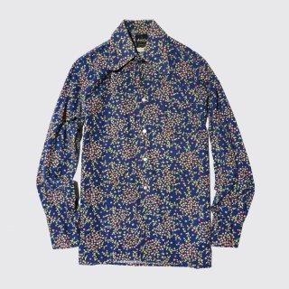 vintage flower cotton shirt