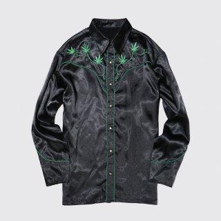 vintage cannabis broderie western shirt