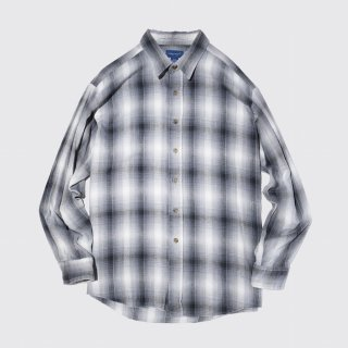 vintage towncraft ombre check flannel shirt