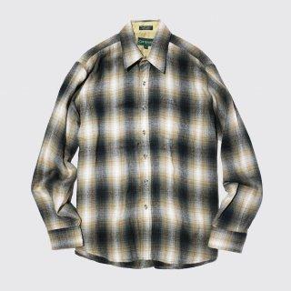 vintage campus ombre check shirt