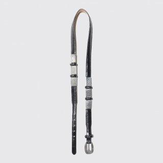 vintage metal narrow leather belt