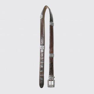 vintage rectangular metal leather belt