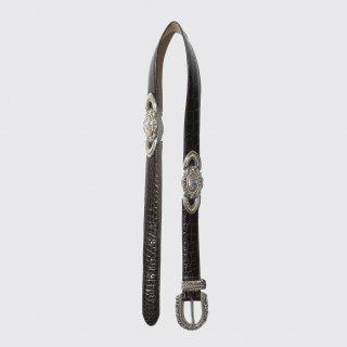 vintage metal leather belt