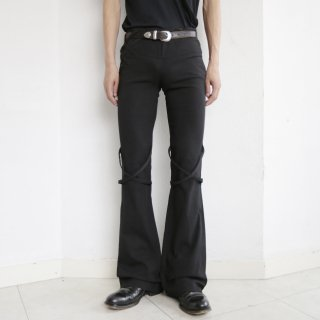 OLD TAPING TRETCH FLARE TROUSERS