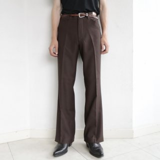 vintage jc penny flare poly trousers , dead stock