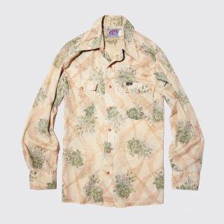 vintage wrangler flower western shirt
