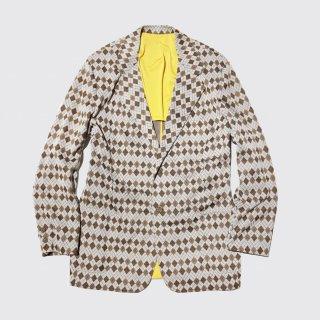 vintage argyle poly blazer