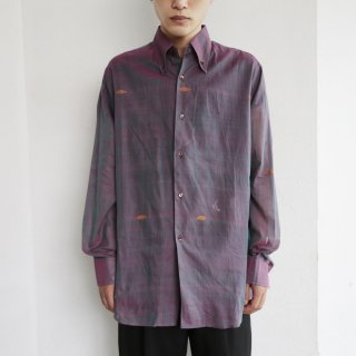 old broderie sheer shirt