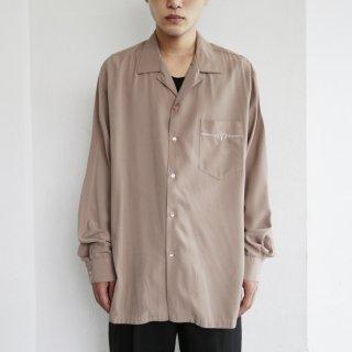 old rayon open collar shirt