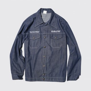 vintage cap'n jac stencil denim jacket
