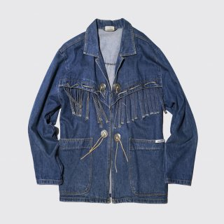 vintage fringe denim jacket