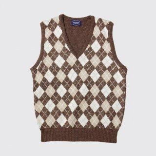 vintage argyle knit vest