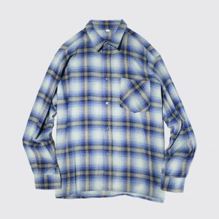 vintage ombre check flannel shirt
