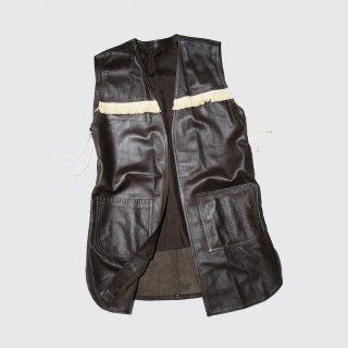 vintage fringe leather vest