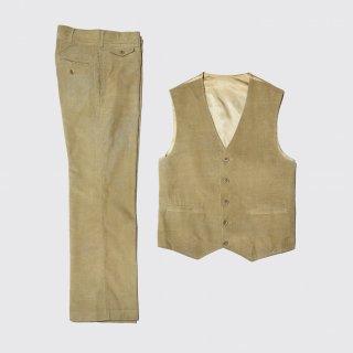 vintage 2piece corduroy vest set up