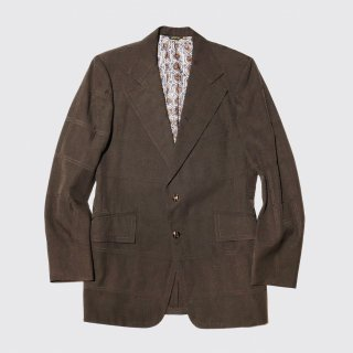 vintage check poly tailored jacket