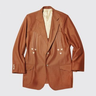 vintage western poly tailored jacket