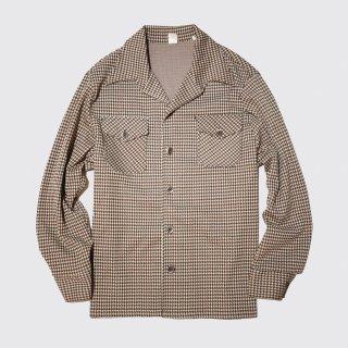 vintage houndstooth poly jacket