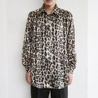 old leopard sheer shirt