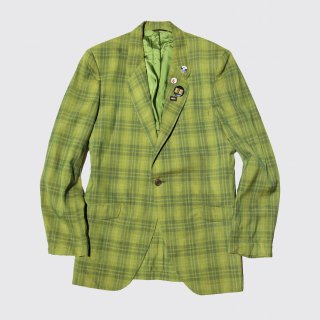 vintage rough riders check tailored jacket