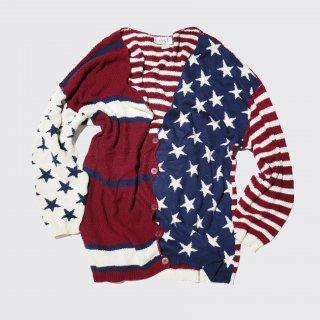 vintage flag loose cardigan