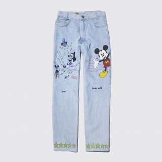 vintage painted custom jeans