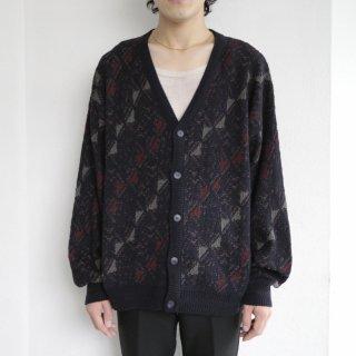 old slanting pattern cardigan