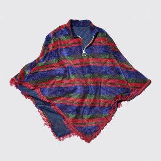 vintage zipped blanket poncho