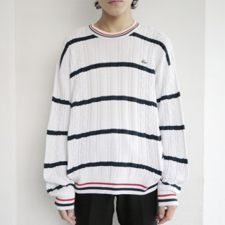 old lacoste border cotton sweater