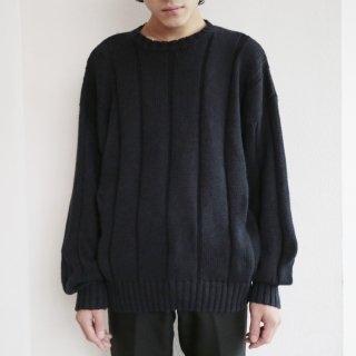 old woven border loose sweater