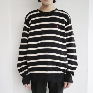old ralph lauren border cotton sweater