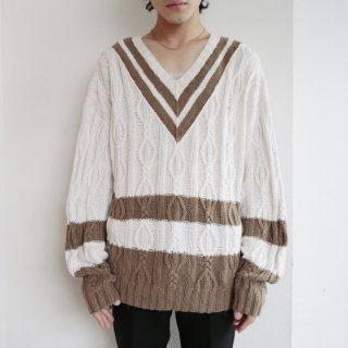 old cotton loose tilden sweater