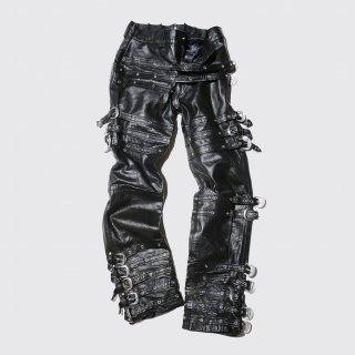 vintage strait bondage leather trousers