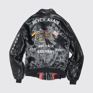 vintage germany satin souvenir jacket