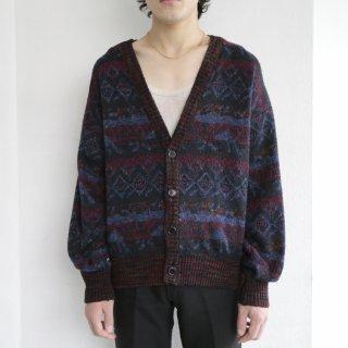 old nordic pattern cardigan