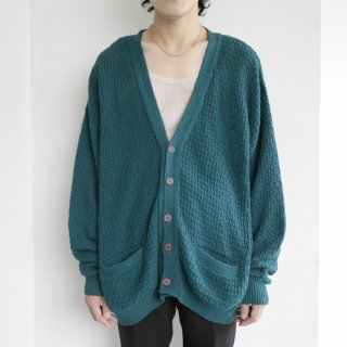 old woven loose cotton cardigan
