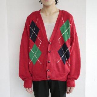 old gap argyle cotton cardigan