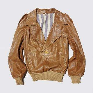vintage euro pullover leather jacket