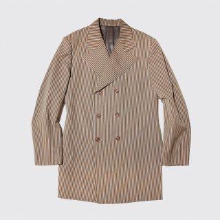 vintage hand tailored seersucker double breast jacket