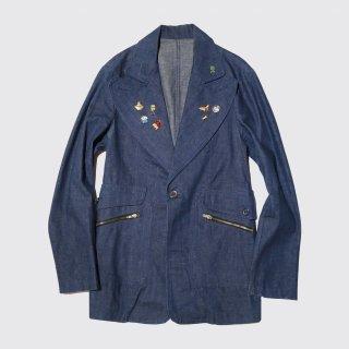vintage custom denim tailored jacket