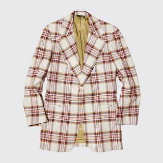 vintage cotton check tailored jacket