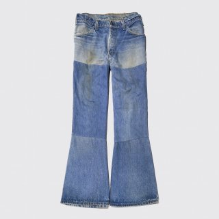 vintage levi's 784 repaired flare jeans